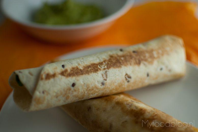 Taquitos met zoete aardappel en limoen