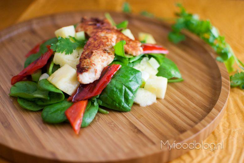 Kip tandoori salade