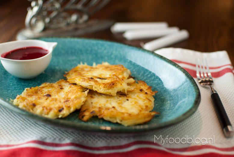 Latkes – aardappel pannenkoeken voor Chanoeka