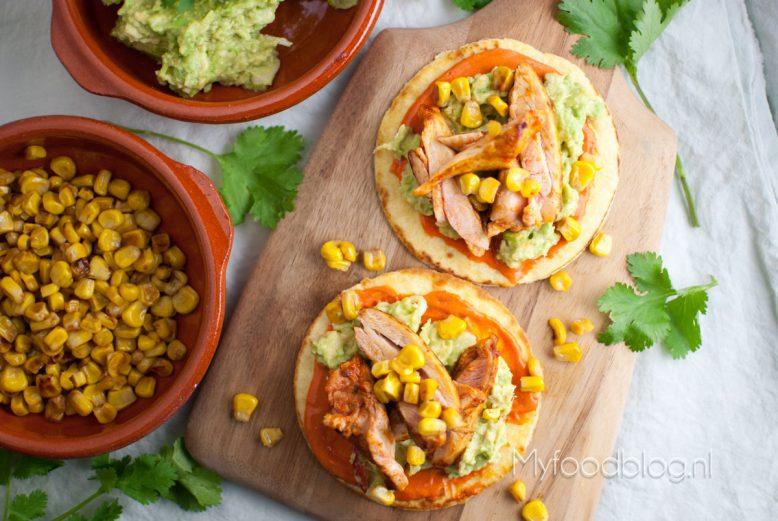 Mexicaanse kip tostada's
