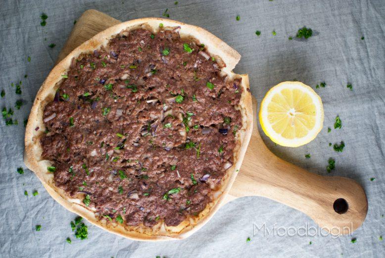 Libanese gehaktpizza