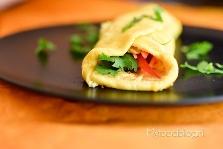 Gevulde Mexicaanse omelet