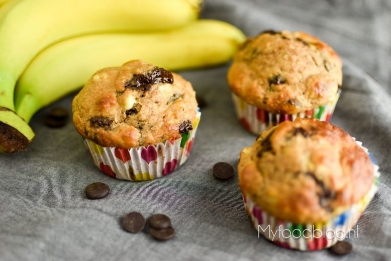 Bananenmuffins met chocolade