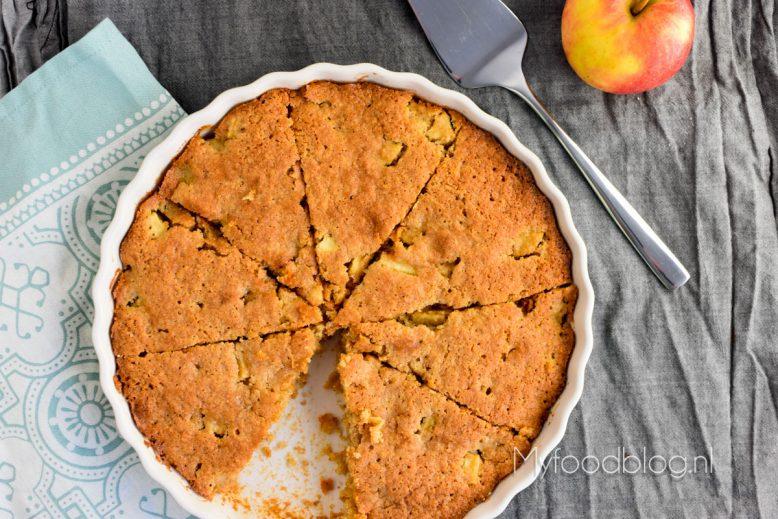 Makkelijke appelcake met amandelmeel