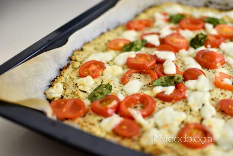 Bloemkool pizza (gezondere pizza!)