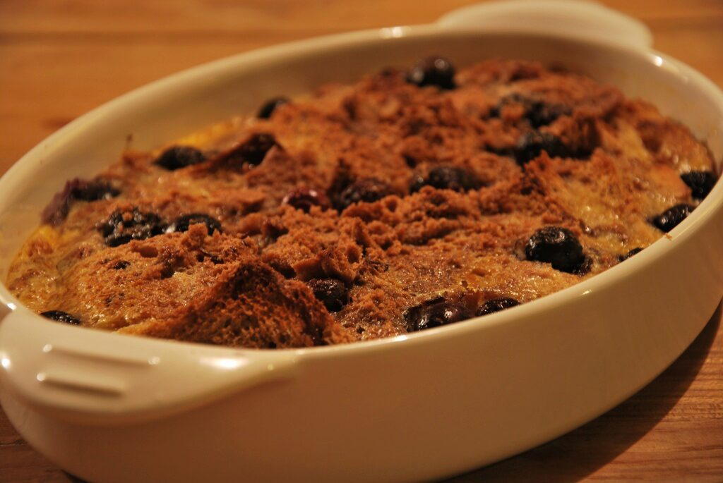 broodpudding met restjes brood