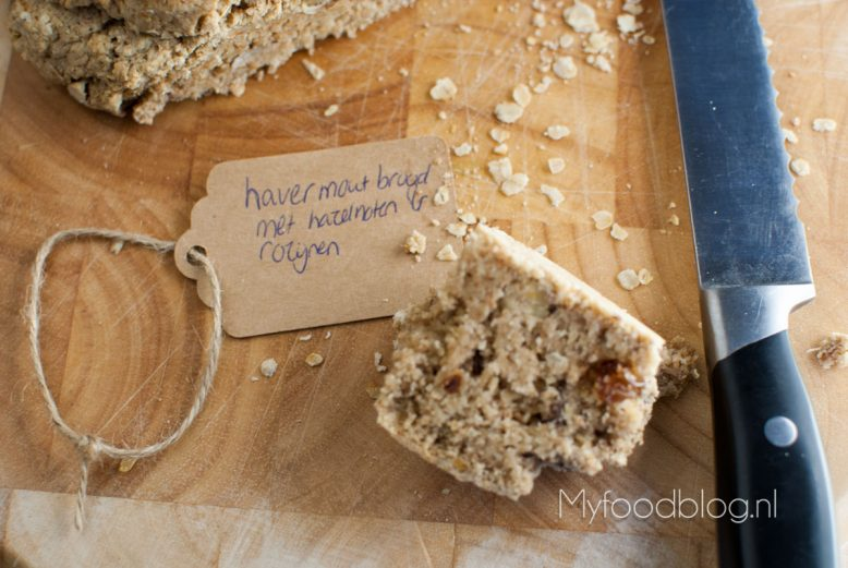 havermoutbrood met hazelnoten