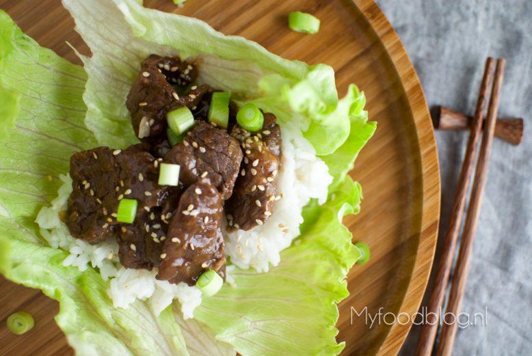 Bulgogi met rijst en sla