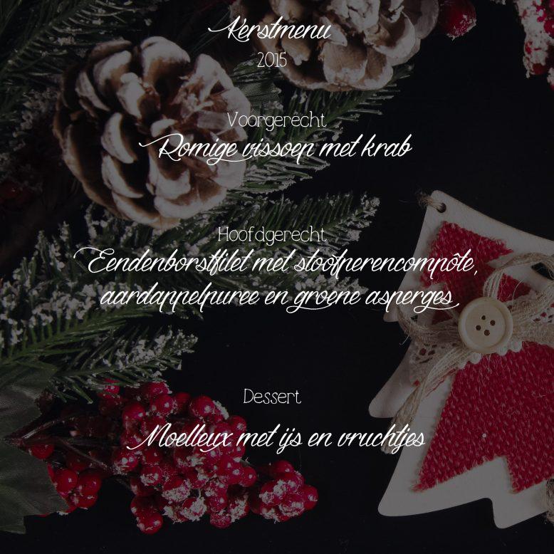 kerstmenu 2015