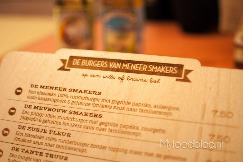 Meneer Smakers menu