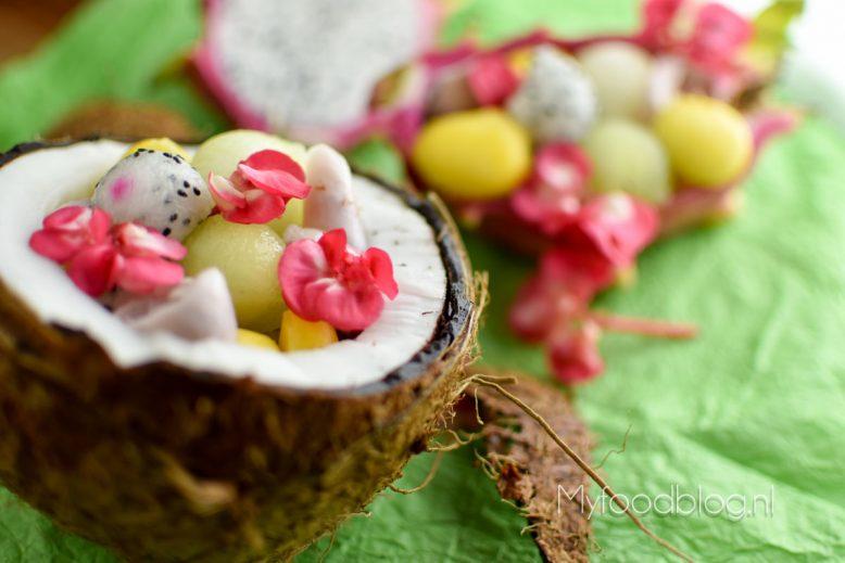 fruitsalade met kokos