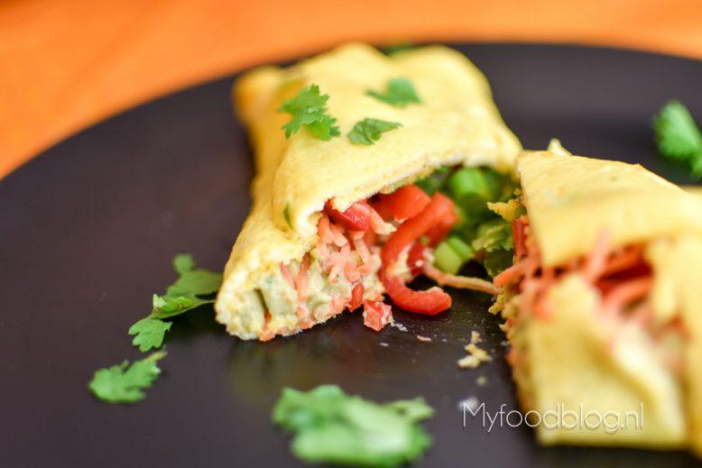 omelet met Mexicaanse vulling