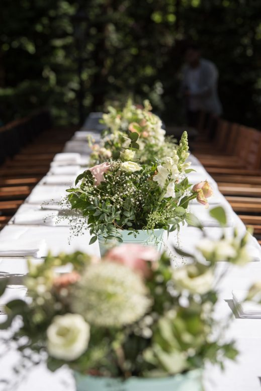 gedekte tafel bruiloft